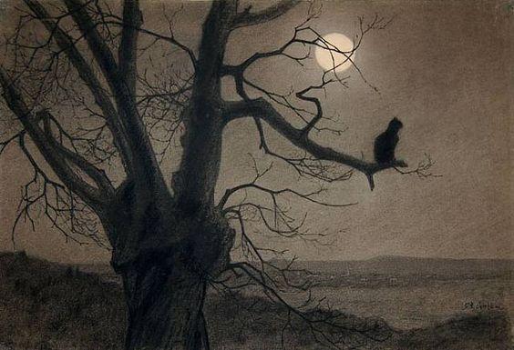 theophile-alexandre-steinlen-1859-1923-chat-au-clair-de-lune